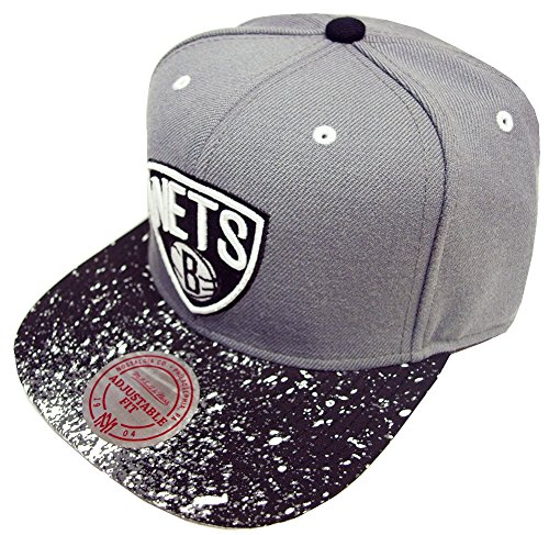 Mitchell And Ness - Casquette Snapback Homme Brooklyn Nets Splatter 2 Tone Snapback - Grey