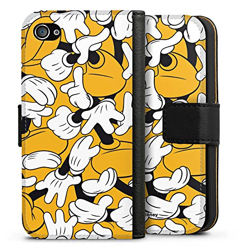 Apple iPhone X Silikon Hülle Case Schutzhülle Disney Mickey Mouse Geschenke Merchandise Sideflip Tasche schwarz