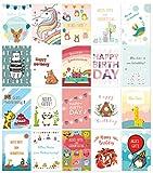 20er-Set Geburtstagskarten mit 20 süßen Motiven inklusive Umschlägen / DIN A6 / Klappkarten / Kindergeburtstagskarten - Von Sophies Kartenwelt