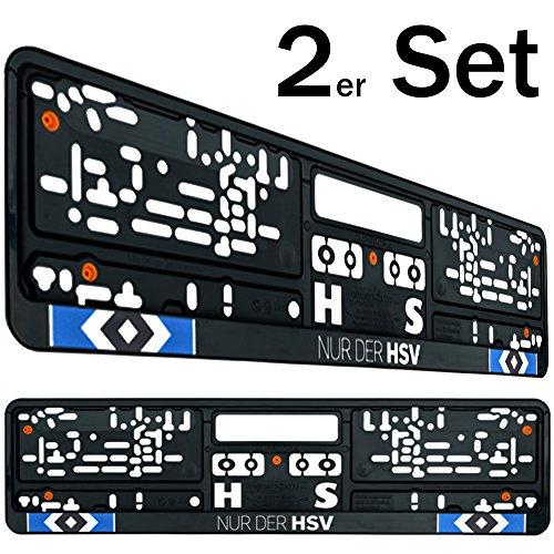 Preisvergleich Produktbild Hamburger SV Nummernschildträger / Kennzeichenverstärker / Kennzeichenrahmen / Kennzeichenhalter 2er Set HSV