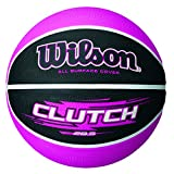 WILSON Clutch Basketball, Black/Pink, One Size