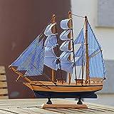 Weiduoli Massivem Holz Segeln Modell Segeln kreative Piratenschiff Handwerk Geschenke Schmuck