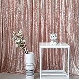 GFCC Sequins Toile de Fond Fond à Paillettes Rideau pour Mariage/fête d'anniversaire/bébé douches/Photographie, Rose Gold, 3x7ft