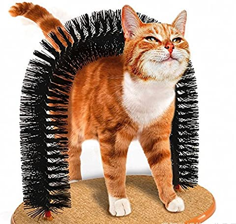 K&C Arch Self-Groomer and Massager Self-Grooming Cat Salon Groom Toy Pet Cat Scratcher Toys Fur Grooming Brush