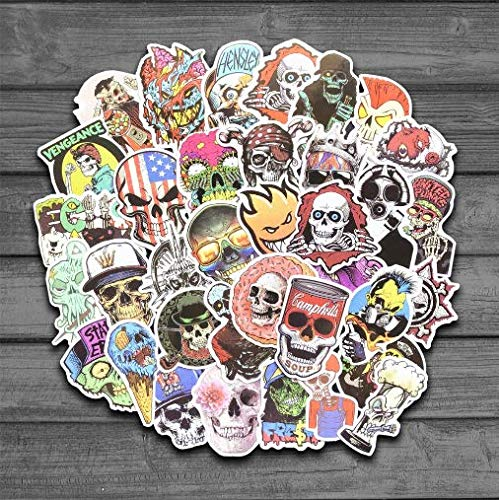 HZHUI Reggae Zombie Skull Skateboard Snowboard Stickers Doodle Decalcomanie Bagagli Laptop Car Styling Bike Impermeabile Sticker 50pcs