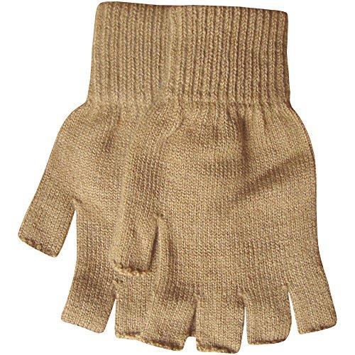 Men's Warm Thermal Knit Fingerless Winter Gloves