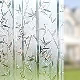 Rabbitgoo® Film Intimité pour Vitre Statique Décoratif Film Adhésif Fenêtre Vitrage Autocollant 90 cm × 200 cm Motif Bambou