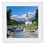 3drose die Pfarrkirche Ramsau in Bayern,