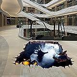 Wawer 3D Happy Halloween Haushalt Raum Boden Wandaufkleber Mural Decor Decal Abnehmbare (Mehrfarbig)