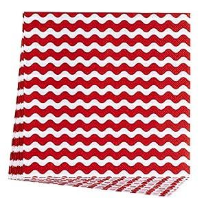 Neviti 678160Carnaval servilleta, ondas, color rojo