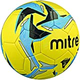 Mitre Indoor V7 Fußball für Wettkämpfe Gelb (Gelb / Blau / Schwarz), 4