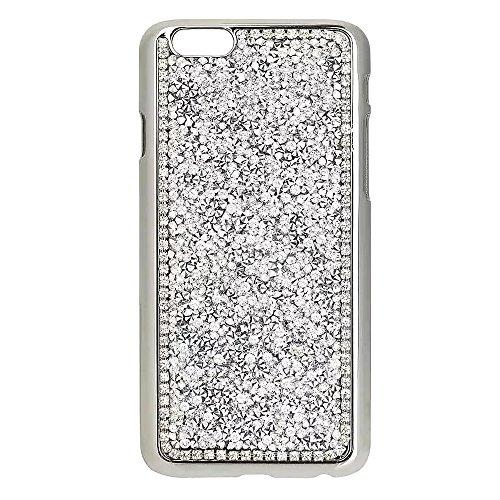 """Coque pour Apple iPhone 5G/5s/SE 4.0"""", CLTPY 3D Jelly Housse dans Placage Bordure Hard Bling Flash Etui Plastic Protection Cristal Case Glitter Sparkles Strass Coquille pour iPhone 5G,iPhone 5s,iPhone Argenté"""