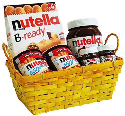 Geschenk Set Osternest mit Ferrero Nutella Spezialitäten (6-teilig) Fertige Osternest