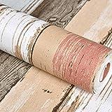 GAOJIAN Retro Papel tapiz de imitación de madera Grain Ropa Pvc tienda de papel tapiz de individualidad color madera grano adhesivo longitud 10m Kuan0.53M