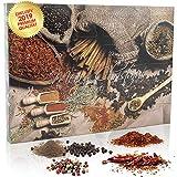 C&T Pfeffer-Adventskalender mit 24 hochwertigen Gourmet Pfeffersorten aus aller Welt | Weihnachtskalender als Geschenk für Erwachsene | Gewürz-Adventskalender
