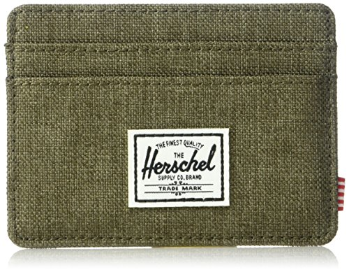 Herschel Charlie RFID WalletFeaturing a timeless design, the Charlie wallet is a compact and convenient card holder.Signature striped fabric linerMultiple card slots and top-access storage sleeveEngineered red and white striped tabClassic woven label...