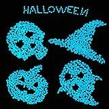 100 piezas brillan en la oscuridad guijarros para pasarelas decoración resplandor piedras rocas para jardín hadas camino calzada acuario adornos en azul (Azul)
