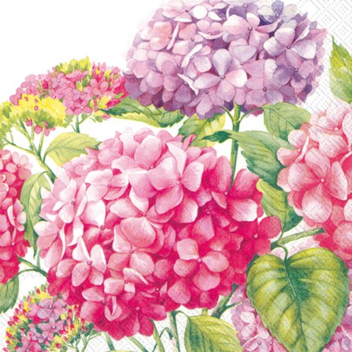 Count 3lagige Papier Lunch-Servietten, pink Sea of Pink Blossoms ()