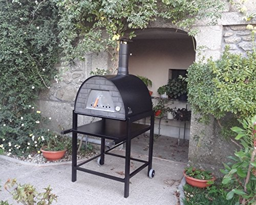 Wood-Fired Maximus Black Steel Oven Stand (STAND ONLY NOT OVEN)