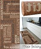 floor factory Küchenteppich Bon Appetit braun 80x200 cm - günstiger Küchenläufer
