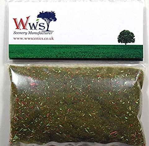 WWS Autumn Leaf Litter 2mm Mix Model Basing Static Grass 30g G,O,HO/OO,TT,N.Z Wargames
