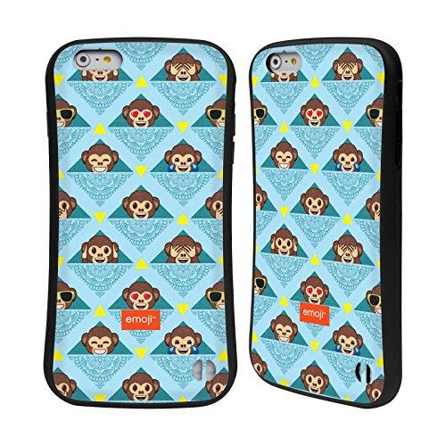 Ufficiale Emoji Scatole Modelli 2 Case Ibrida per Apple iPhone 6 / 6s Scimmie