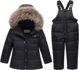 LSERVER Kinder Daunenjacke Warme Baby Winterkleidung