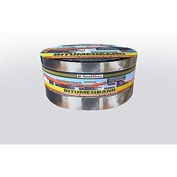 10 m x 75 mm IsolBau Aluminium Bitumenband Dachreparatur Aluminiumband Reparaturband Dach Aluband Selbstklebende Farbe Kupfer