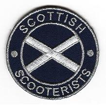 Sew-de hierro-on parche escocés consigna St, Andrew de la bandera de Escocia insignia con mensaje en inglés