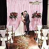 ShinyBeauty 8ftx10ft Pailletten - Hintergrund Rosa Schimmern Pailletten - Hintergrund Vorhang f¨¹r Hochzeit