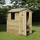 6 x 4 Overlap Pressure Treated Timber Shed, MAINLAND UK DELIVERY