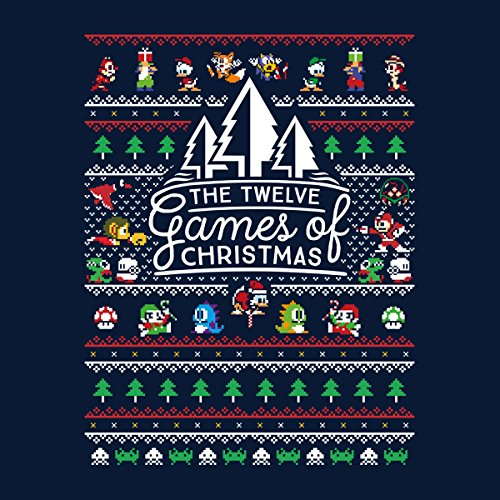 The 12 Games Of Christmas Knit Women's Vest Navy blue