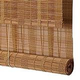 PMTX-Bamboo curtain Tenda a Lamella Naturale, oscuramento/Ventilazione/Impermeabile/Protezione Solare - Tenda a Rullo/Tenda di bambù/Tenda divisoria (la Dimensione può Essere Personalizzata)