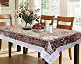 #8: Kuber Industries™ Waterproof Dining Table Cover 6 Seater 60*90 Inches (Exclusive Design)