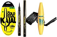 Maybelline New York The Colossal Liner, 1.2g + Maybelline New York Colossal Kajal, Black, 0.35g + Maybelline Volum Express Co