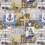 Fabulous Fabrics Dekostoff Maritimer Kram — Meterware ab