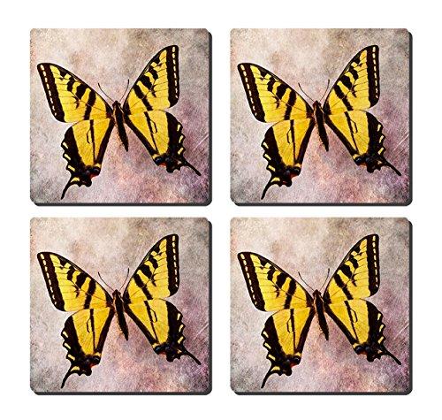 luxcase Design Gelb Schmetterling Stimmung Creative Geschirr Kork Square Pad Matte Tischset Tisch oder in der Küche Heat Mat