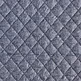 Fabulous Fabrics Steppstoff Melange – blau — Meterware ab 0,5m — zum Nähen von Jacken und Mänteln