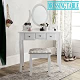 Minifair Retro Wooden Dressing Table With Bedroom Makeup Desk Stool Piano Chair (dressing table and stool)