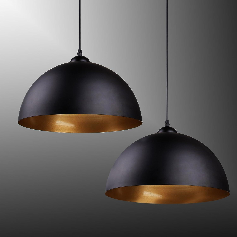 BAYTTER® Design 2x Industrielle Vintage LED Pendelleuchte ...