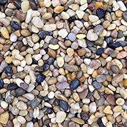 Couleur Naturelle Pierres pour Aquarium Galets Gravier Substrat, 0,5-1cm, 5kg