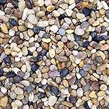 Colore Naturale Acquario Pietre ciottoli substrato Ghiaia, 0.5–1cm, 5kg