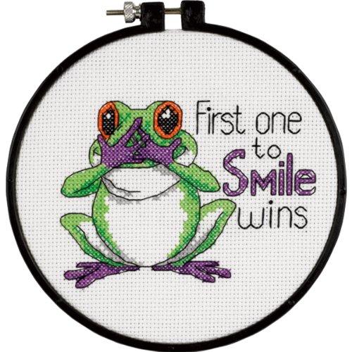 imparare-a-craft-uno-primo-sorriso-contato-punto-croce-kit-6-rotondo