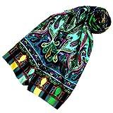 Lorenzo Cana Luxus Seidenschal aufwändig bedruckt Paisley Muster Schal 100% Seide 50 x 165 cm harmonische Farben Damentuch Schaltuch