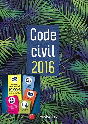Code civil 2016 : Jaquette Palmes par Laurent Leveneur