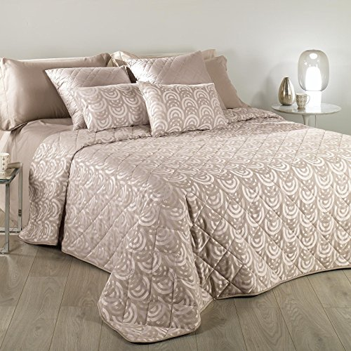 Caleffi Couvre-lit Boutis Ginger Double Taupe