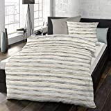 Schlafgut Soft Touch Cotton Bettwäsche Maxwell Tiramisu 155x220 cm + 80x80 cm