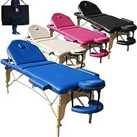 Nouveau Modèle Table de Massage 3 Zones Portables lit esthetique Reiki + Sac - Bleu