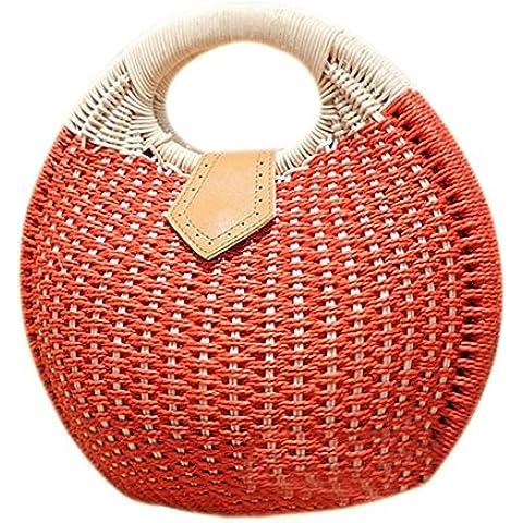 Hrph Nido de caracol bolso de mano de la playa del verano Pequeño Marca bolsos de la paja de la rota bolso de las mujeres