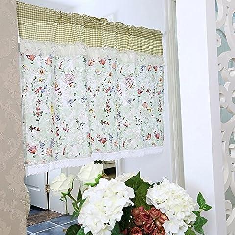 Unimall 4572800 Küchengardine Kaffee Vorhang Scheibengardine Bistrogardine mit Spitzen B x H: 140 x 60